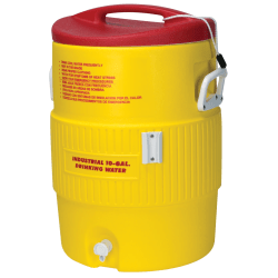 Igloo® Heat-Stress Solution 10-Gallon Water Cooler, Red/Yellow