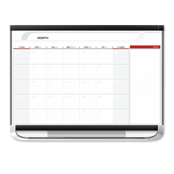 "Quartet® Prestige® 2 Total Erase® Magnetic Project Planner, Monthly Calendar, 36"" x 24"", White/Graphite"
