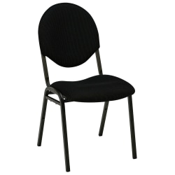 """Realspace® Banquet Padded Fabric Seat, Fabric Back Stacking Chair 17 9/10"""" Seat Width, Black Seat/Black Frame, Quantity: 1"""