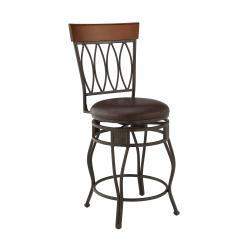 Linon Home Decor Products Holmes Counter Stool, Brown/Matte Bronze