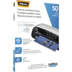 """Fellowes® Thermal Laminating Pouches 8-1/2"""" x 11"""", Clear, Pack of 50"""
