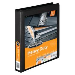 """Wilson Jones® 385 Heavy-Duty View 3-Ring Binder, 1"""" D-Rings, 48% Recycled, Black"""