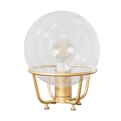 "Southern Enterprises Brenton LED Table Lamp, 10""H, Clear Shade/Antique Brass Base"