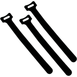C2G Cable Wraps - Black - 50pk - Black - 50 Pack