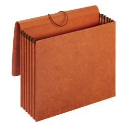 """Pendaflex® Expanding Wallets, 5 1/4"""" Expansion, Letter Size, Brown, Pack Of 10 Wallets"""