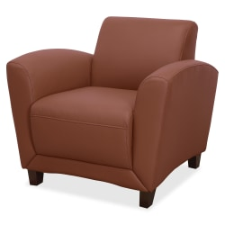 Lorell® Accession Bonded Leather Reception Club Chair, British Tan