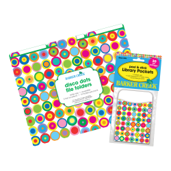 "Barker Creek Folder/Pocket Set, 9"" x 12"", Disco Dots"