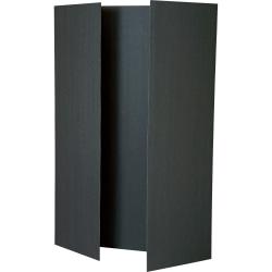 "Pacon Foam Presentation Board - 48""W x 36""H - Tri-Fold - Foam - 12 Boards/Carton - Black"