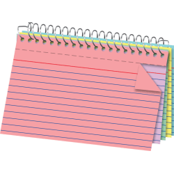 """Office Depot® Brand Spiral Ruled Index Cards, 4"""" x 6"""", Assorted Colors, Pack Of 100"""