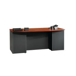 """Sauder® Via Executive Desk, 71 1/2""""W x 35 1/2""""D, Classic Cherry/Soft Black"""