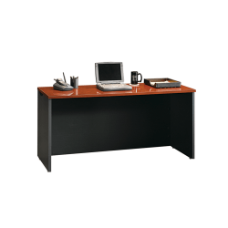 Sauder® Via Credenza, Classic Cherry/Soft Black