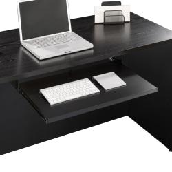 Sauder® Via Keyboard Shelf, Soft Black