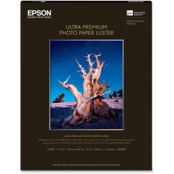 "Epson® Ultra Premium Photo Paper, 17"" x 22"", Ream Of 25 Sheets"