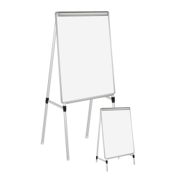 "MasterVision® Easy Clean™ Quad Pod 4 Leg Non-Magnetic Dry-Erase Whiteboard Easel, 27"" x 35"" Steel Frame With Silver Finish"