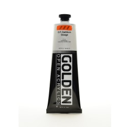 Golden OPEN Acrylic Paint, 5 Oz Tube, Cadmium Orange (CP)