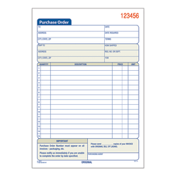 """Adams® Carbonless Purchase Order Book, 5 9/16"""" x 8 7/16"""", 3-Part, 50 Set Pad"""