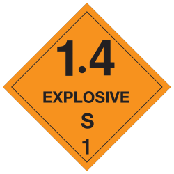 "Tape Logic® Preprinted Shipping Labels, DL5091, 1.4 — Explosive — S 1"", Square, 4"" x 4"", Orange/Black, Roll Of 500"