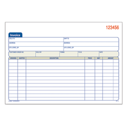 """Adams® Carbonless Invoice Books, 2-Part, 8 7/16"""" x 5 9/16"""", Pack Of 50"""