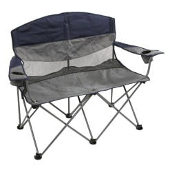 Stansport Double Apex Folding Chair, Gray/Blue