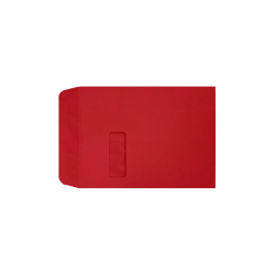 "LUX Open-End Window Envelopes With Peel & Press Closure, #9 1/2, 9"" x 12"", Ruby Red, Pack Of 500"