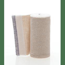 "Medline Non-Sterile Matrix Elastic Bandages, 4"" x 5 Yd., White/Beige, 4 Bandages Per Box, Case Of 5 Boxes"