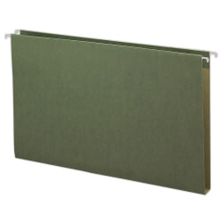 """Smead® Premium Box-Bottom Hanging Folders, 1"""" Expansion, Legal Size, Standard Green, Box Of 25"""