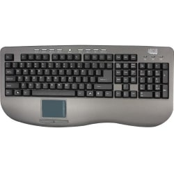 Adesso® AKB-430UG Win-Touch Pro USB Keyboard wWth Glidepoint Touchpad, Graphite
