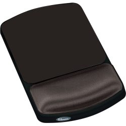 Fellowes® Gel Wrist Rest/Mouse Pad, Graphite