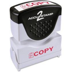 "Accu-Stamp Pre-Inked Shutter Stamp, 1/2"" x 1-5/8"" Impression, Red"