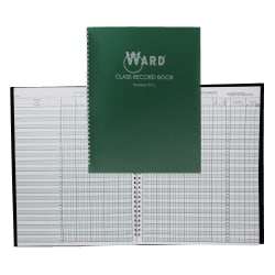 Ward 9-10 Week Class Record Books, Green, Pack Of 4