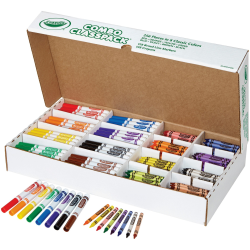 Crayola® Crayons And Markers Combo Classpack, Assorted Colors, Box Of 256