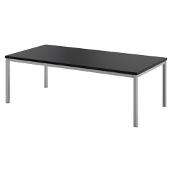 basyx by HON® Tubular Steel Frame Coffee Table, Rectangle, Black/Silver