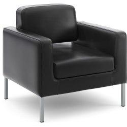 HON® Corral Club™ Bonded Leather Chair, Black