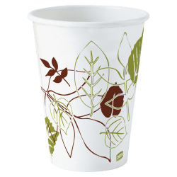 Dixie® Paper Hot Cups, 12 Oz., Pathways, Carton Of 500
