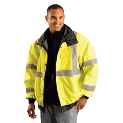 OccuNomix Polyester Bomber Jacket, X-Large, Yellow
