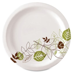 "Dixie® Paper Plates, 8 1/8"" Diameter, Pathways, Carton Of 500"