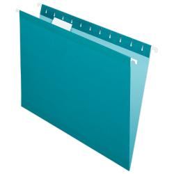 Pendaflex® Premium Reinforced Color Hanging Folders, Letter Size, Teal, Pack Of 25