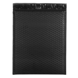 "JAM Paper® Bubble Envelopes, Booklet, 12"" x 15 1/2"", Black, Pack Of 12"