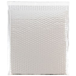 "JAM Paper® Metallic Bubble Envelopes, Catalog, Open End, 10"" x 13"" x 1/2"", Silver, Pack Of 12"