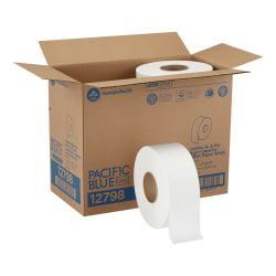 Pacific Blue Basic™ by GP PRO Jumbo Jr. 2-Ply High-Capacity Toilet Paper, Pack Of 8 Rolls