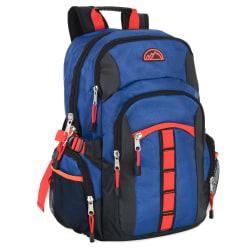 """Trailmaker Athletic Backpack With 17"""" Laptop Pocket, Blue/Black"""