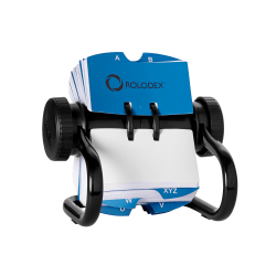 "Rolodex® Open Metal Single Rotary File, 2 1/4"" x 4"", 500 Cards, Black"