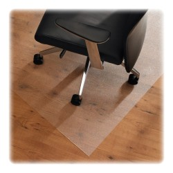"Floortex Cleartex XXL Ultmat Polycarbonate Chair Mat For Hard Floors/Low-Pile Carpet, 79"" x 60"", Clear"