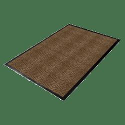 Genuine Joe Dual-Ribbed Indoor Floor Mat, 4' x 6', Chocolate