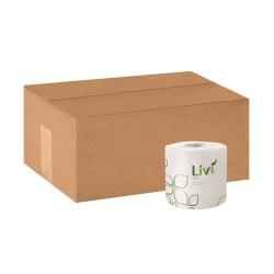 Livi Solaris 2-Ply Toilet Paper, White, 500 Sheets x 96 Rolls