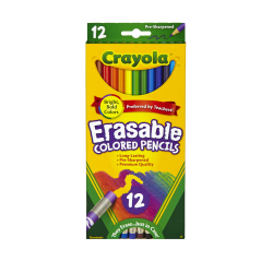 Crayola® Erasable Colored Pencils, Pack Of 12 Pencils
