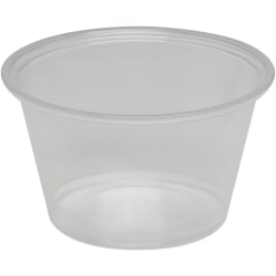 Georgia-Pacific Plastic Portion Cup - 4 fl oz - 2400 / Carton - Clear - Plastic - Sauce