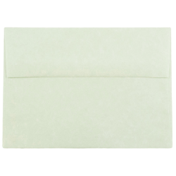 """JAM Paper® Parchment Booklet Invitation Envelopes (Recycled), A7, 5 1/4"""" x 7 1/4"""", 30% Recycled, Green, Pack Of 25"""