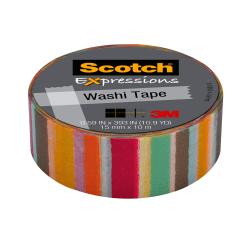 "Scotch® Expressions Washi Tape, 5/8"" x 393"", Blurred Lines"
