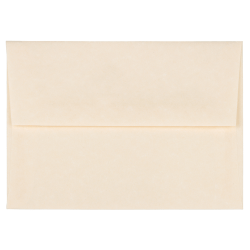 """JAM Paper® Booklet Invitation Envelopes (Recycled), A2, 4 3/8"""" x 5 3/4"""", 30% Recycled, Natural, Pack Of 25"""